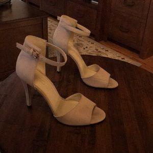 Cream open toes heels size 7.5 Aldo